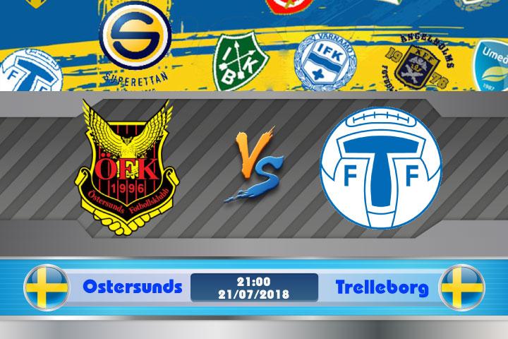 Soi kèo Ostersunds vs Trelleborgs 21h00, ngày 21/7: Không còn xa lạ