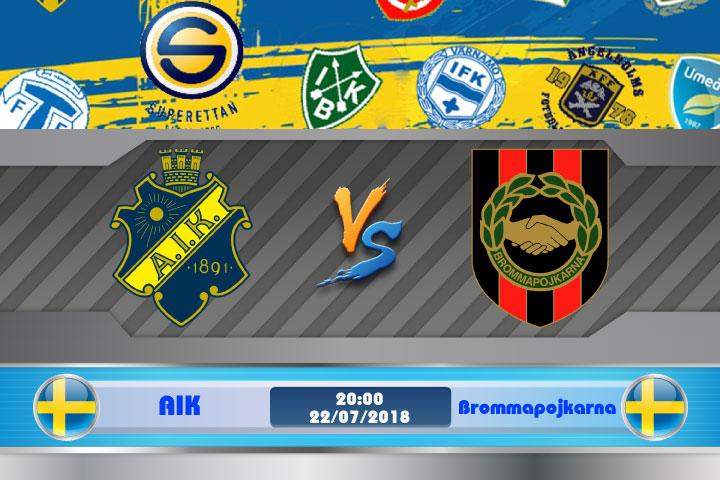 Soi kèo AIK vs Brommapojkarna 20h00, ngày 22/7: Không cân sức
