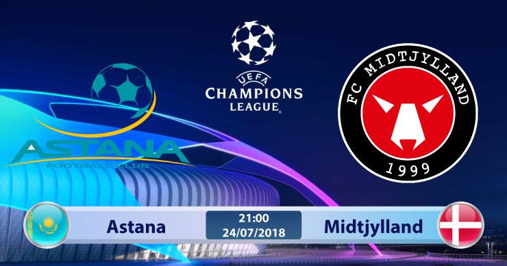 Soi kèo Astana vs Midtjylland 21h00, ngày 24/7: Phong độ trái ngược