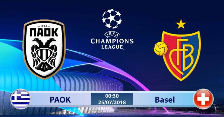 Soi kèo PAOK vs Basel 00h30, ngày 25/7: Cơ hội nào cho đội khách ?