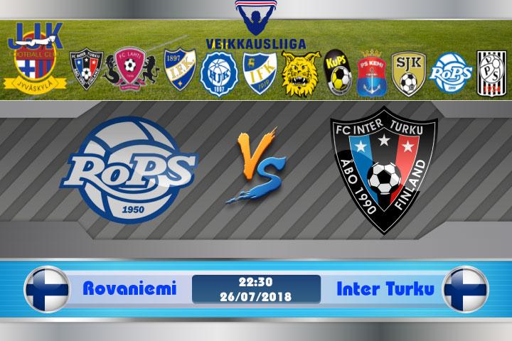 Soi kèo Rovaniemi vs Inter Turku 22h30, ngày 26/7: Quá khứ bao trùm
