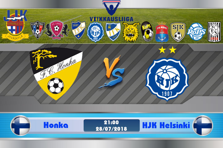 Soi kèo Honka vs HJK Helsinki 21h00, ngày 28/7: Nhọc nhằn ghi điểm