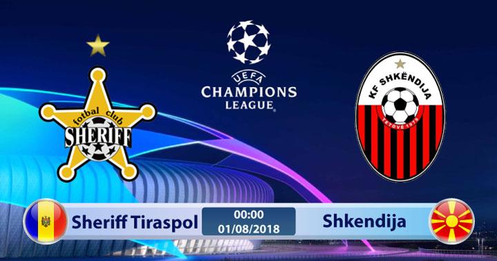 Soi kèo Sheriff Tiraspol vs Shkendija 00h00, ngày 01/8: Bại binh phục hận