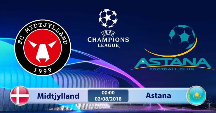 Soi kèo Midtjylland vs Astana 00h00, ngày 02/8: Lợi thế nhỏ bé