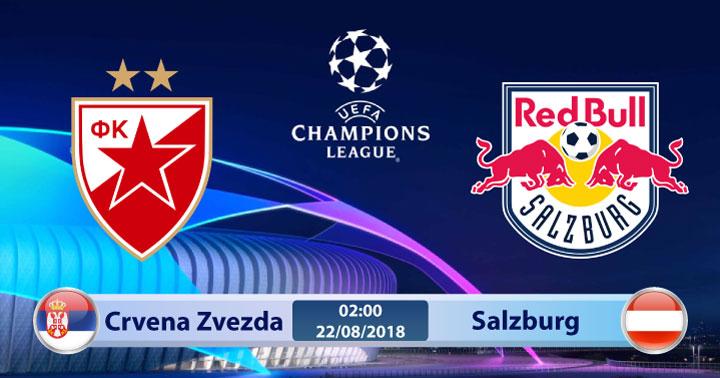 Soi kèo Crvena Zvezda vs Salzburg 02h00, ngày 22/8: Lần đầu chạm mặt
