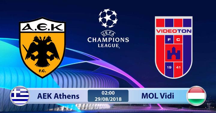 Soi kèo AEK Athens vs MOL Vidi 02h00, ngày 29/8: Nhiệm vụ nhọc nhằn