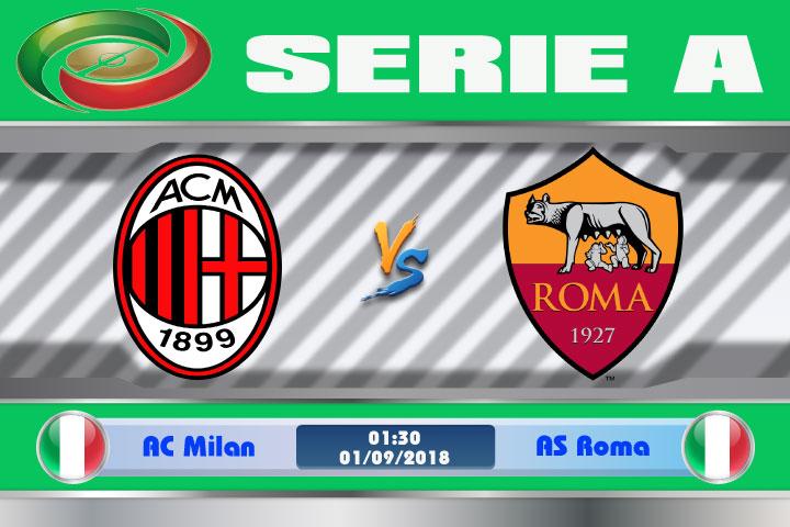 Soi kèo AC Milan vs AS Roma 01h30, ngày 01/9: Kỳ phùng địch thủ