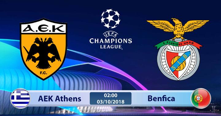 Soi kèo AEK Athens vs Benfica 02h00, ngày 03/10: Cuộc chiến cân sức