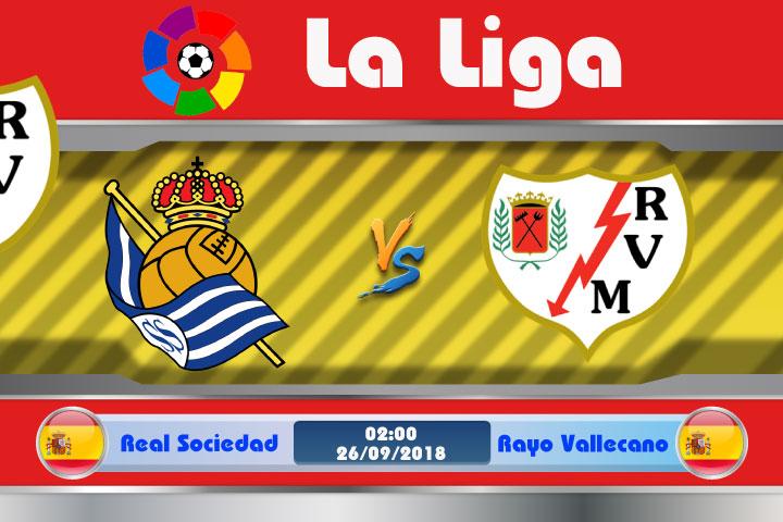 Soi kèo Real Sociedad vs Rayo Vallecano 02h00, ngày 26/9: Nhân sự !