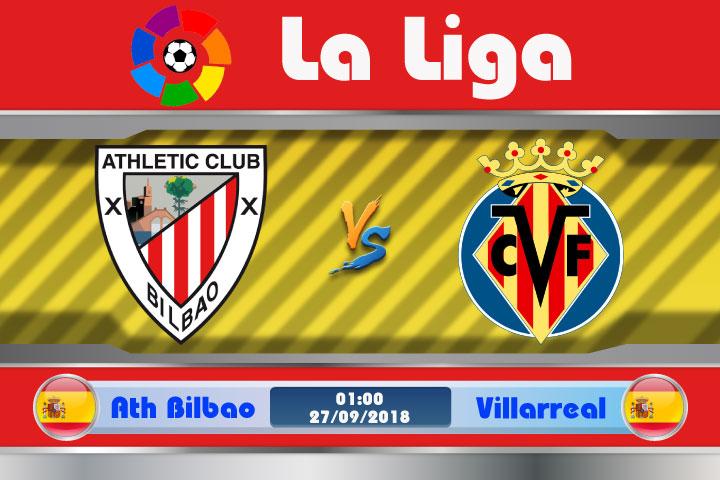 Soi kèo Ath Bilbao vs Villarreal 01h00, ngày 27/9: Bài toán thể lực