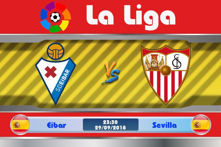 Soi kèo Eibar vs Sevilla 23h30, ngày 29/9: Duy trì mạch thăng hoa