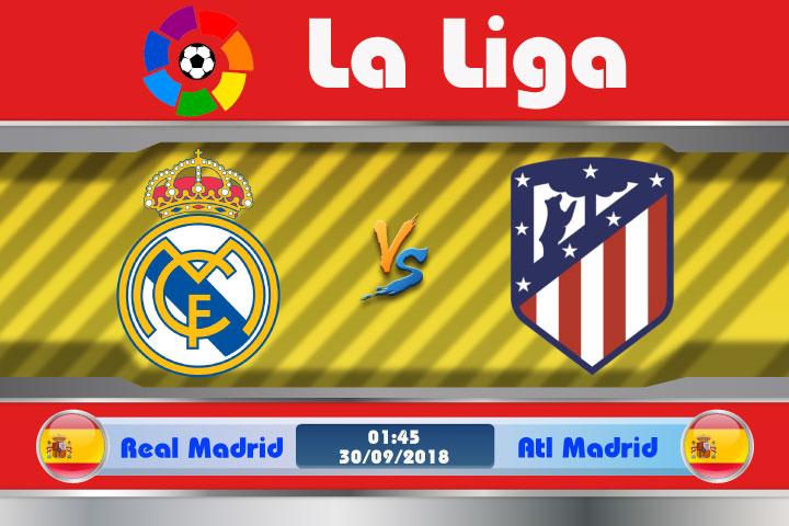 Soi kèo Real Madrid vs Atletico Madrid 01h45, ngày 30/9: Derby từ sớm