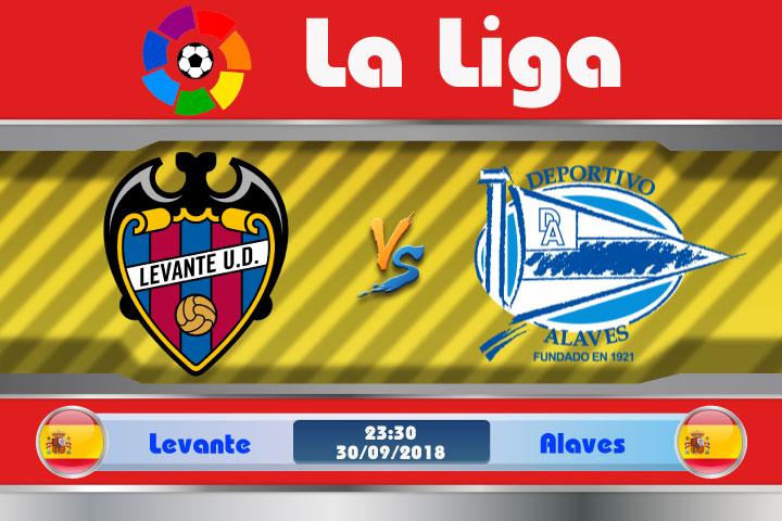 Soi kèo Levante vs Alaves 23h30, ngày 30/9: Thành Valencia gặp nạn