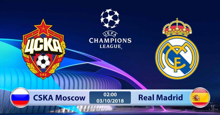 Soi kèo CSKA Moscow vs Real Madrid 02h00, ngày 03/10: Chủ nhà gặp khó