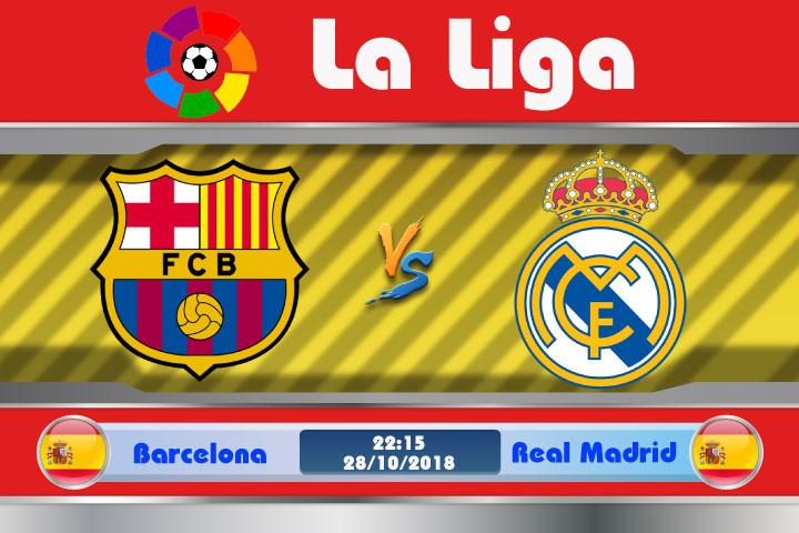Soi kèo Barcelona vs Real Madrid 22h15, ngày 28/10: El Clasico vắng sao