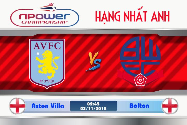 Soi kèo Aston Villa vs Bolton 02h45, ngày 3/11: Lợi thế sân nhà