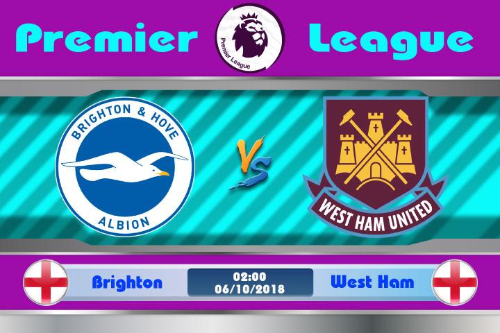 Soi kèo Brighton vs West Ham 02h00, ngày 6/10: Phong độ thăng hoa