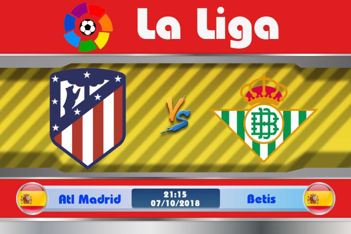 Soi kèo Atletico Madrid vs Betis 21h15, ngày 7/10: Khiếp hãi đất khách