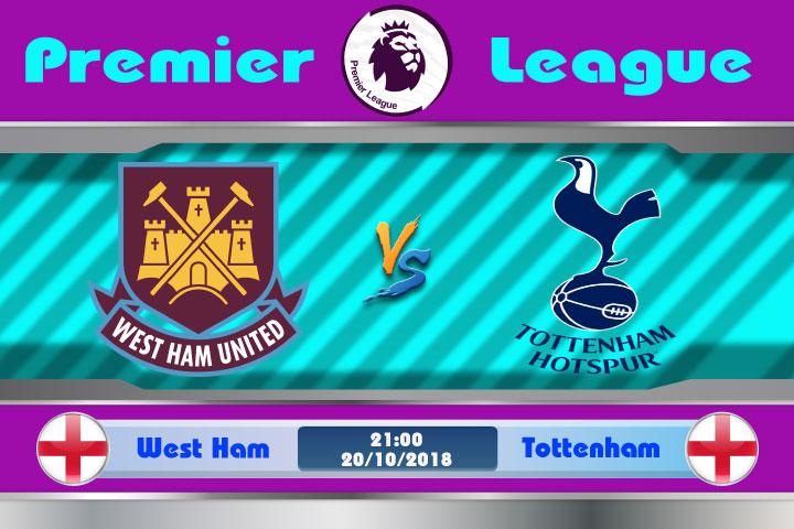 Soi kèo West Ham vs Tottenham 21h00, ngày 20/10: Chủ nhà khó chịu