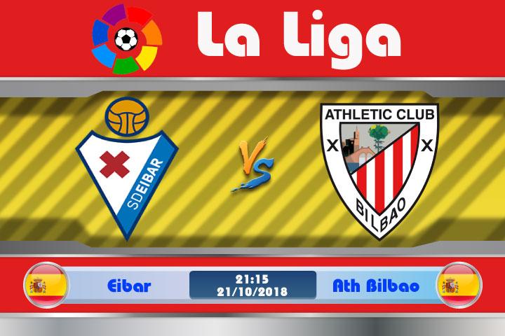 Soi kèo Eibar vs Ath Bilbao 21h15, ngày 21/10: Tìm kiếm chiến thắng