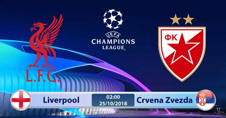 Soi kèo Liverpool vs Crvena Zvezda 02h00, ngày 25/10: Chủ nhà vượt trội