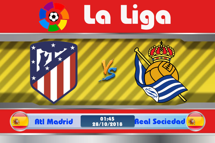 Soi kèo Atletico Madrid vs Real Sociedad 01h45, ngày 28/10: Thức tỉnh