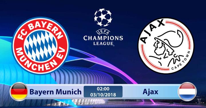 Soi kèo Bayern Munich vs Ajax 02h00, ngày 03/10: Cạnh tranh ngôi đầu