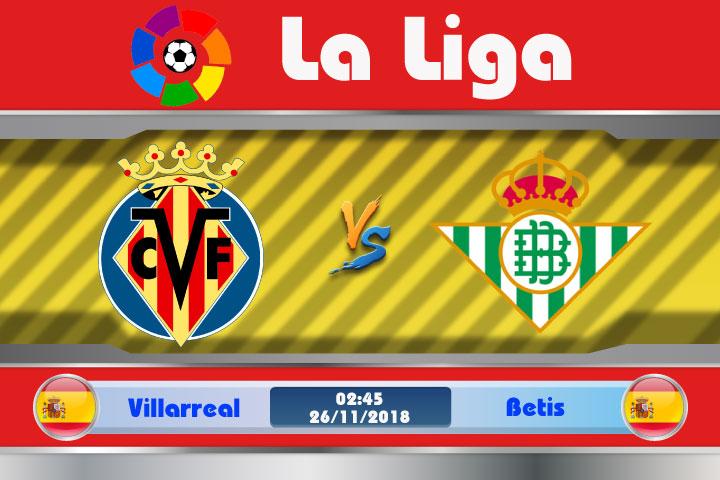 Soi kèo Villarreal vs Betis 02h45, ngày 26/11: Cảm xúc thăng hoa