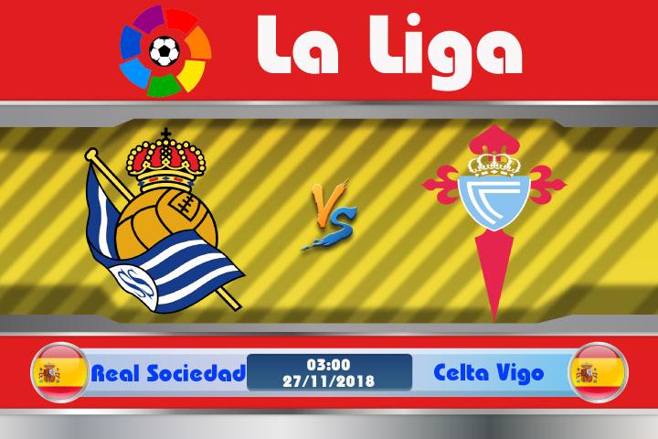 Soi kèo Real Sociedad vs Celta Vigo 03h00, ngày 27/11: Đội khách yếu thế