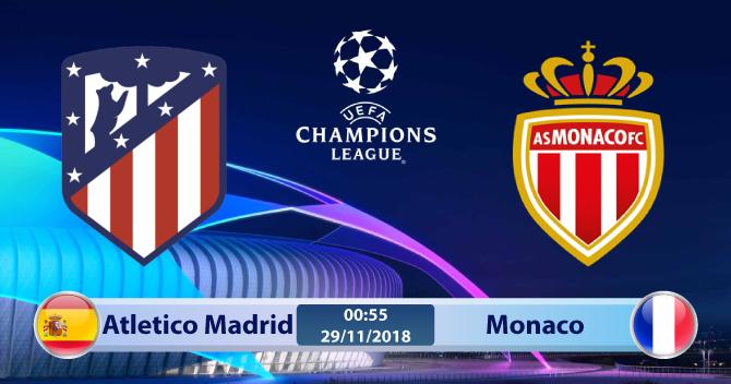 Soi kèo Atletico Madrid vs Monaco 00h55, ngày 29/11: Còn nước còn tát