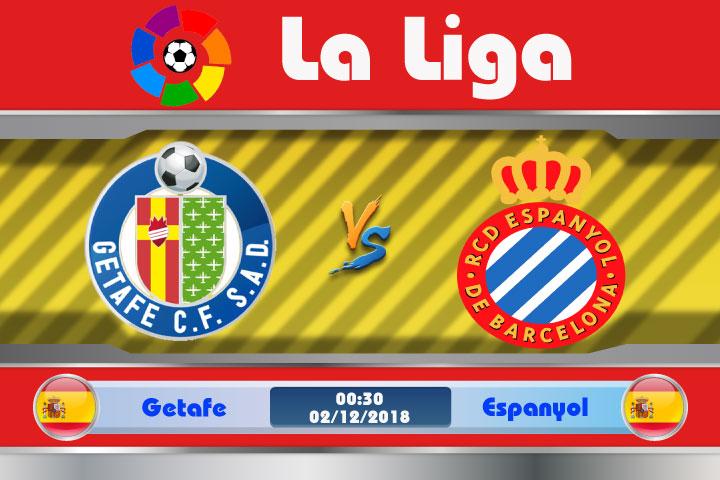 Soi kèo Getafe vs Espanyol 00h30, ngày 02/12: Yếu thế khi phải xa nhà
