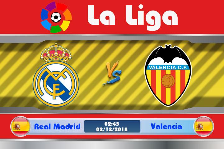Soi kèo Real Madrid vs Valencia 02h45, ngày 02/12: 10 năm bất bại ?