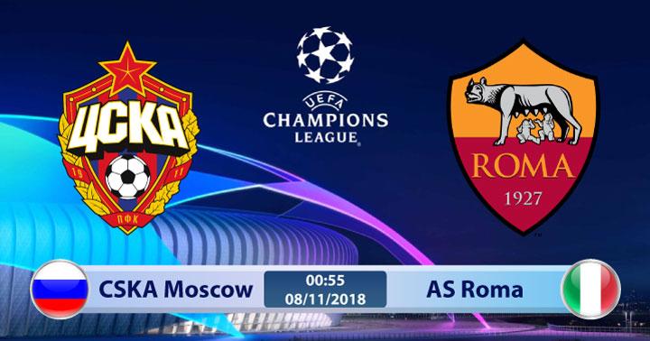 Soi kèo CSKA Moscow vs AS Roma 00h55, ngày 08/11: Đôi chút lo lắng