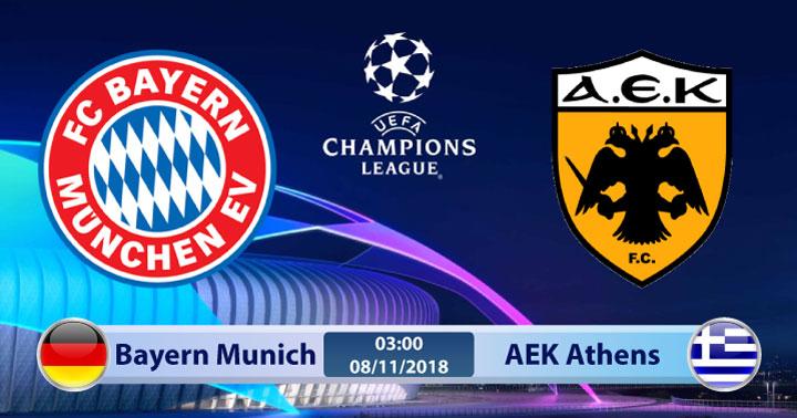 Soi kèo Bayern Munich vs AEK Athens 03h00, ngày 08/11: Dấu chấm hết