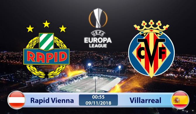Soi kèo Rapid Vienna vs Villarreal 00h55, ngày 09/11: Cẩn tắc vô ưu