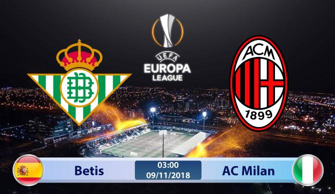 Soi kèo Betis vs AC Milan 03h00, ngày 09/11: Bại binh phục hận