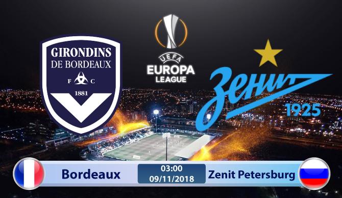 Soi kèo Bordeaux vs Zenit Petersburg 03h00, ngày 09/11: Khó lường trước