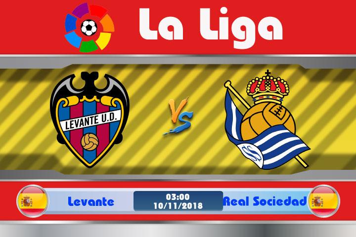 Soi kèo Levante vs Real Sociedad 03h00, ngày 10/11: Duy trì mạch bất bại