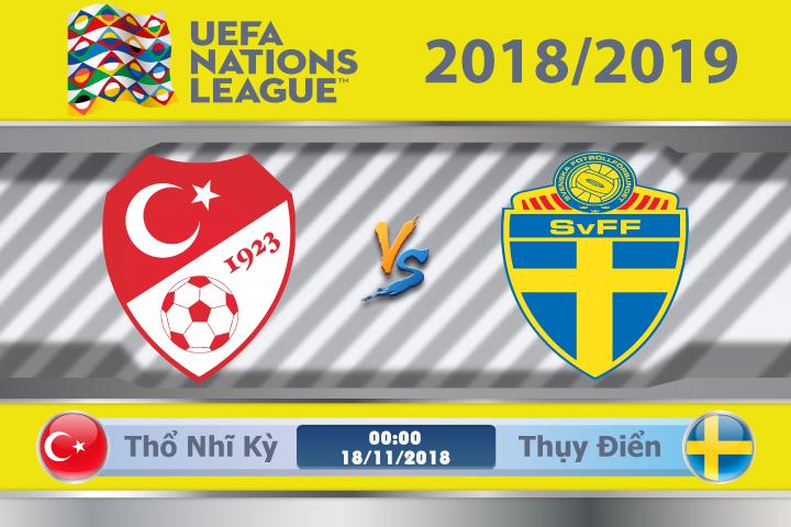 Soi kèo Thổ Nhĩ Kỳ vs Thụy Điển 00h00, ngày 18/11: Cuộc chiến trụ hạng