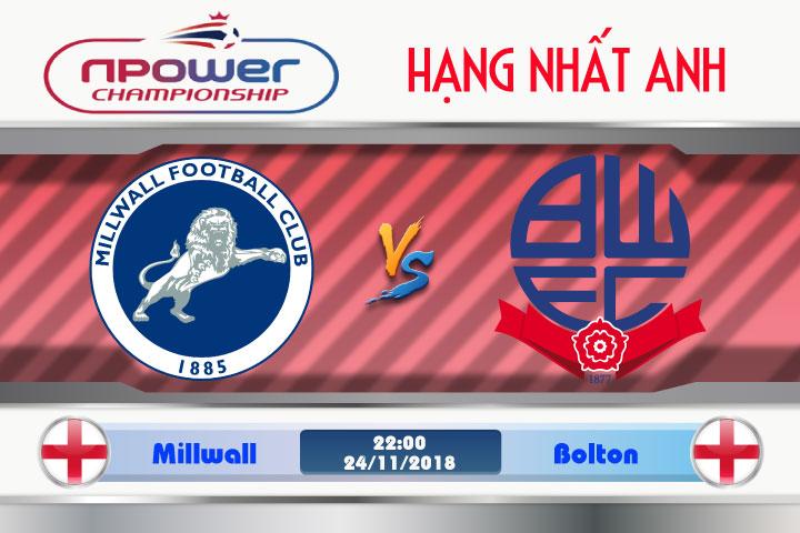 Soi kèo Millwall vs Bolton 22h00, ngày 24/11: Cơ hội tốt để ghi điểm