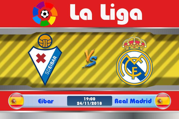 Soi kèo Eibar vs Real Madrid 19h00, ngày 24/11: Đế vương thức giấc