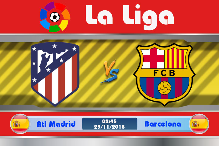 Soi kèo Atletico Madrid vs Barcelona 02h45, ngày 25/11: Quá khứ u tối