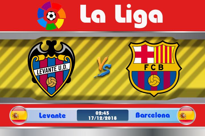 Soi kèo Levante vs Barcelona 02h45 ngày 17/12: Bản lĩnh nhà vô địch