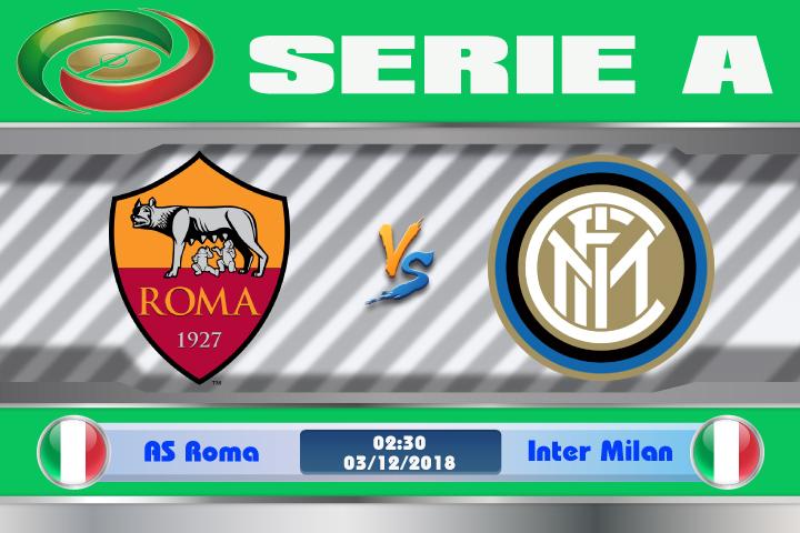 Soi kèo AS Roma vs  Inter Milan 02h30, ngày 03/12: Long hổ tranh hùng