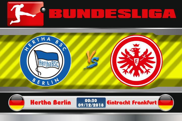 Soi kèo Hertha Berlin vs Eintracht Frankfurt 00h30 ngày 09/12: Trỗi dậy