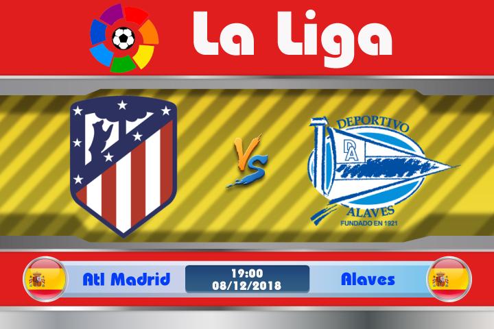 Soi kèo Atletico Madrid vs Alaves 19h00 ngày 08/12: Nối dài mạch bất bại