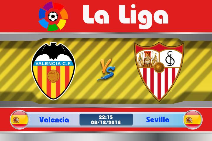 Soi kèo Valencia vs Sevilla 22h15 ngày 08/12: Không dễ ghi điểm