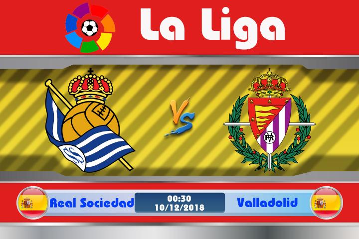 Soi kèo Real Sociedad vs Valladolid 00h30 ngày 10/12: Không thể chủ quan
