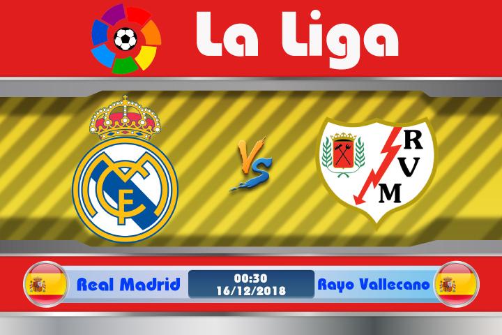 Soi kèo Real Madrid vs Rayo Vallecano 00h30 ngày 16/12: Thất bại chờ sẵn