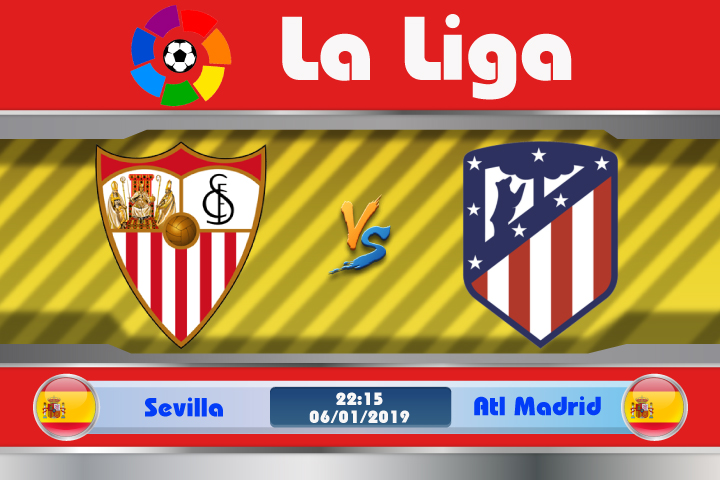 Soi kèo Sevilla vs Atletico Madrid 22h15 ngày 06/01: Cạnh tranh trực tiếp